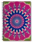 Pink Green Blue Abstract Spiral Notebook