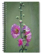 Pink Hollyhocks Spiral Notebook