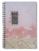 Pink House With Black Iron Spiral Notebook
