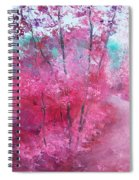 Pink Landscape Spiral Notebook