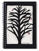 Pink Leaf Maple Spiral Notebook