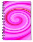 Pink Lollipop Swirl Spiral Notebook