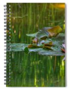 Pink Lotus Flower Spiral Notebook