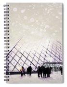 Pink Louvre Paris Spiral Notebook
