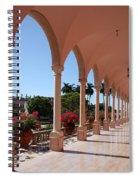 Pink Marble Colonnade Spiral Notebook