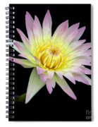 Pink N Yellow Water Lily Too Spiral Notebook