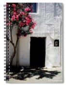 Pink Oleander By The Door Spiral Notebook