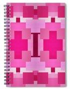 Pink On Pink Panorama 4 Spiral Notebook