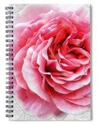 Pink On White Spiral Notebook