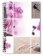 Pink Orchid And Buddha Collage Spiral Notebook