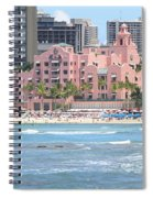 Pink Palace On Waikiki Beach Spiral Notebook