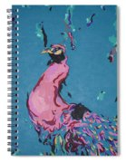 Pink Peacock Full View Spiral Notebook