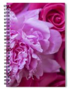Pink Peonies And Pink Roses Spiral Notebook