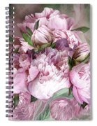 Pink Peonies Bouquet - Square Spiral Notebook