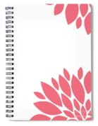 Pink Peony Flowers Spiral Notebook