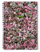 Pink Petals On Stones  Spiral Notebook