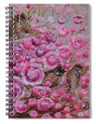 Pink Rose Birdies Spiral Notebook
