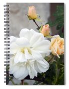 Pink Rose Buds At Carmel By The Sea Mission Spiral Notebook