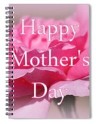 Pink Rose Mother's Day Card Spiral Notebook