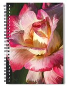Pink Rose Painted  Spiral Notebook