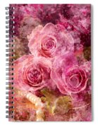 Pink Roses And Pearls Spiral Notebook