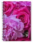 Pink Roses And Peonies Please Spiral Notebook