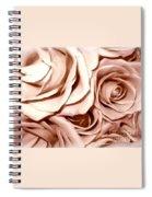 Pink Roses Bouquet Sketchbook Effect Spiral Notebook