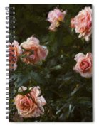 Flowers - Pink Roses Spiral Notebook