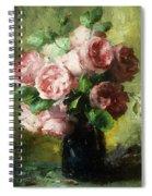 Pink Roses In A Vase Spiral Notebook