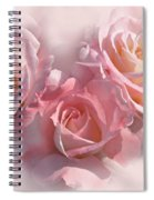 Pink Roses In The Mist Spiral Notebook