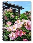 Pink Roses Near Trellis Spiral Notebook
