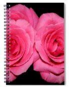 Pink Roses With Brush Stroke Effects Spiral Notebook