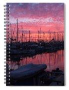 Pink Summer Sunset  Spiral Notebook
