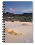Pink Sunset At The Desert Spiral Notebook
