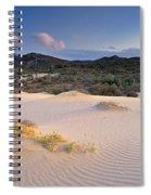 Pink Sunset At The Desert Spiral Notebook