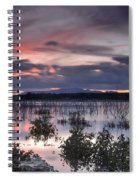 Pink Sunset At The Lake Spiral Notebook