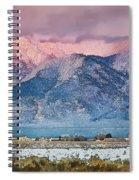 Pink Sunset On Taos Mountain Spiral Notebook
