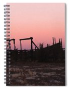 Pink Sunset Over Corral Spiral Notebook