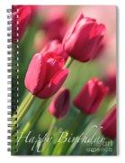 Pink Tulip Dream Birthday Card Spiral Notebook