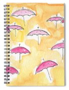 Pink Umbrellas Spiral Notebook