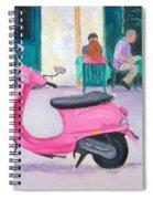 Pink Vespa Spiral Notebook