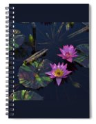 Pink Water Lilly Spiral Notebook