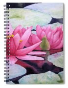 Pink Waterlilies Spiral Notebook