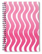 Pink Waves- Abstract Watercolor Pattern Spiral Notebook
