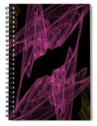Pink Web Spiral Notebook