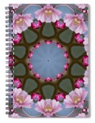 Pink Weeping Cherry Blossom Kaleidoscope Spiral Notebook