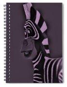 Pink Zebra Spiral Notebook