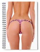 Pink Zebra Thong Spiral Notebook