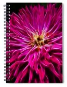 Pink Zinnia Digital Wave Spiral Notebook