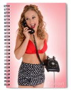 Pinup Girl On The Phone Spiral Notebook